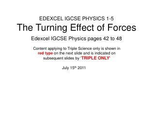 EDEXCEL IGCSE PHYSICS 1-2 Forces  Shape