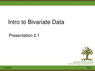 Intro to Bivariate Data