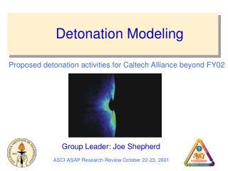 Detonation Modeling