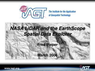 NASA LiDAR and the EarthScope Spatial Data Explorer