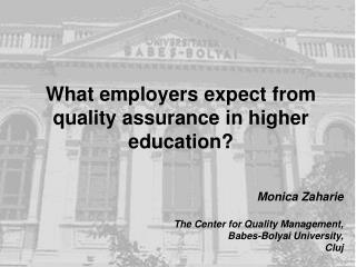 What employers expect from quality assurance in higher education?