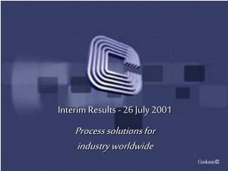 Interim Results - 26 July 2001