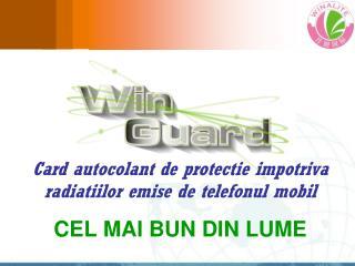 Card autocolant de protectie impotriva radiatiilor emise de telefonul mobil CEL MAI BUN DIN LUME