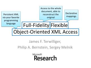 Full-Fidelity Flexible Object-Oriented XML Access