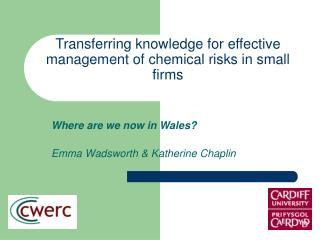 Transferring knowledge for effective management of chemical risks in small firms