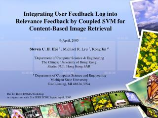 Integrating User Feedback Log into Relevance Feedback by Coupled SVM for Content-Based Image Retrieval