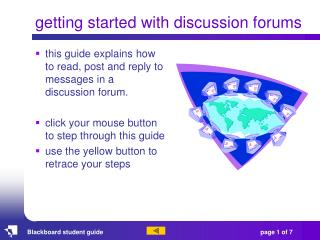 getting started with discussion forums