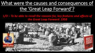 What were the causes and consequences of the 'Great Leap Forward'?
