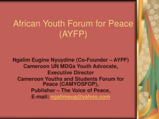 African Youth Forum for Peace ( AYFP)