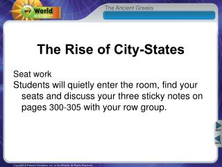 The Rise of City-States