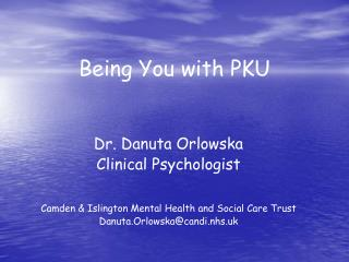 Being You with PKU