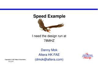Speed Example