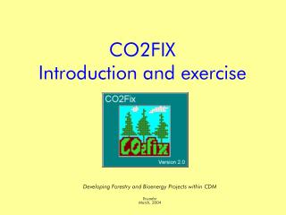 CO2FIX Introduction and exercise