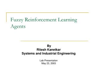Fuzzy Reinforcement Learning Agents