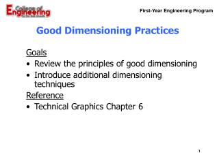 Good Dimensioning Practices