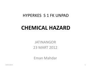 HYPERKES  S 1 FK UNPAD CHEMICAL HAZARD