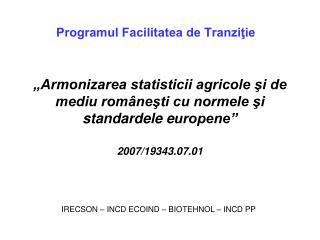 Programul Facilitatea de Tranziţie