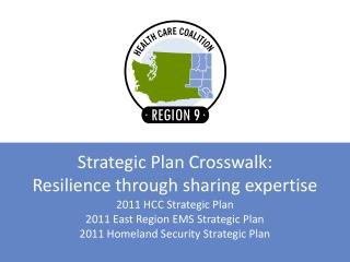 Strategic Plan Crosswalk:  Resilience through sharing expertise