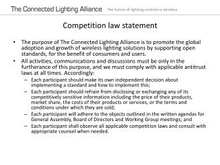 Competition law statement