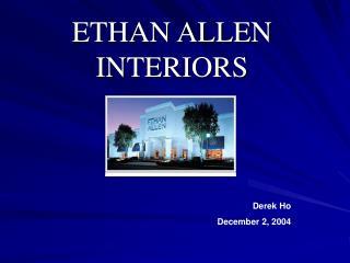ETHAN ALLEN INTERIORS