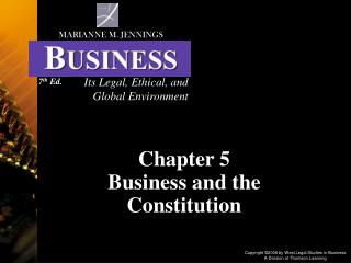 Chapter 5  Business and the Constitution