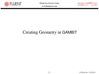 Creating Geometry in  GAMBIT