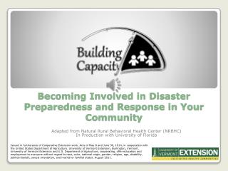 Becoming Involved in Disaster Preparedness and Response in Your Community