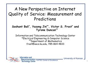 A New Perspective on Internet Quality of Service: Measurement and Predictions