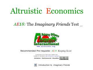 Altruistic   E conomics