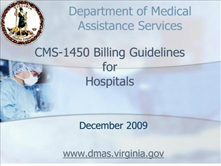 CMS-1450 Billing Guidelines for  Hospitals