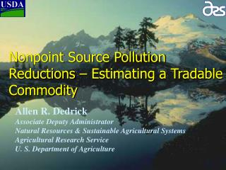 Nonpoint Source Pollution Reductions   Estimating a Tradable Commodity