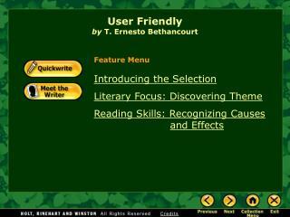 User Friendly by  T. Ernesto Bethancourt