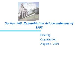 Section 508, Rehabilitation Act Amendments of 1998