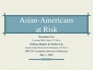 Asian-Americans at Risk