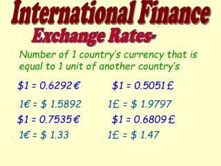 Exchange Rates-