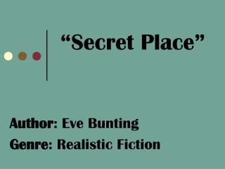 """""""Secret Place"""""""