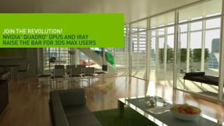 3ds Max 2012 with iray  Join the Rendering Revolution