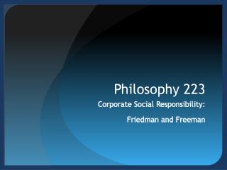 Philosophy 223
