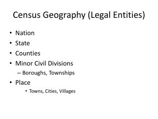 Census Geography (Legal Entities)