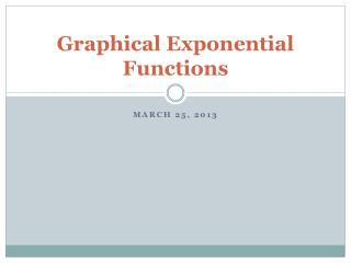 Graphical Exponential Functions