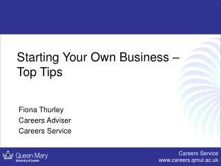 Starting Your Own Business – Top Tips