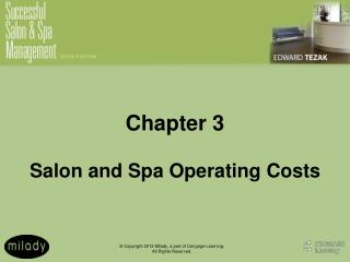 Chapter 3 Salon and Spa Operating Costs