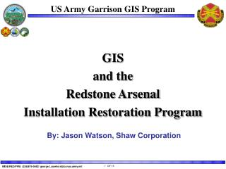 US Army Garrison GIS Program