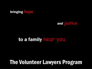 The Volunteer Lawyers Program