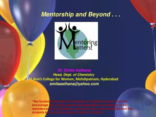 """The fundamental task of the mentor is a libratory task. It is not to encourage the mentor's goals and aspirations and"