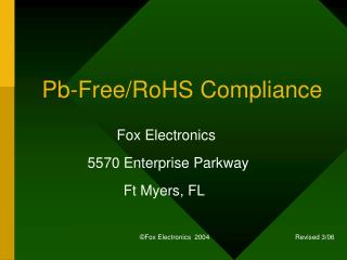 Pb-Free/RoHS Compliance