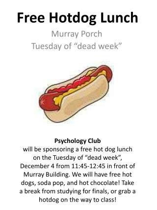 Free Hotdog Lunch