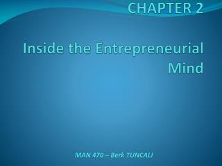 CHAPTER 2   Inside the Entrepreneurial Mind