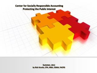 Center for Socially Responsible Accounting Protecting the Public Interest