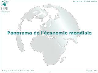 Panorama de l'économie mondiale